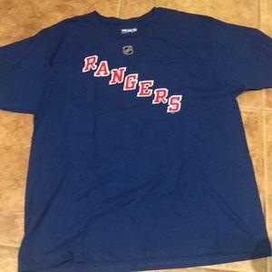 Rangers Lundqvist tee shirt size XL